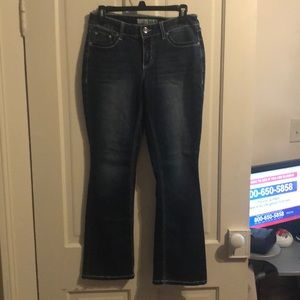Cato straight leg jeans with cross embellishments